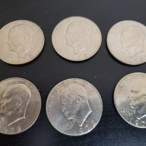6pcs 1972 Eisenhower Dollars